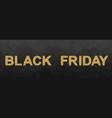 black friday glittering lettering vector image vector image