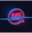 black friday neon style lights background design vector image vector image