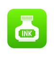 black ink bottle icon digital green vector image vector image