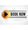 book now button vector image vector image