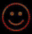 bright pixel glad smiley icon vector image vector image