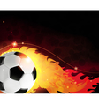 Burning ball abstract background vector image