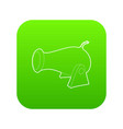 cannon icon green vector image vector image