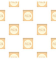 cardboard box with pizza pattern flat vector image vector image