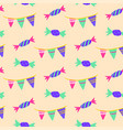 celebration candy seamless pattern vector image vector image