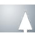 Christmas light snow fir tree vector image vector image