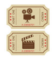 cinema tickets old retro styled tickets vector image vector image