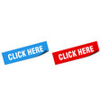 click here paper peeler sign set here vector image vector image