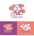 Colorful ice cream logo design concept vector image vector image