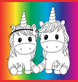 create your own unicorn - big collection unicorn vector image vector image