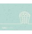 Creative popcorn Art template vector image vector image