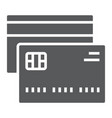 credit card glyph icon finance and banking vector image vector image