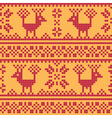 Cross stitch flower and deer vector image vector image