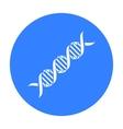 DNA code icon black Single medicine icon from the vector image vector image