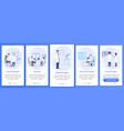 doctors with patients onboarding mobile app vector image vector image