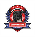dog training badge vector image vector image