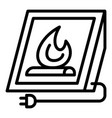 electric fire plug icon outline style vector image