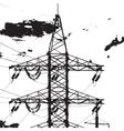 Electric Tower Closeup vector image
