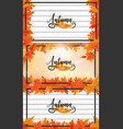 fall or autumn background vector image