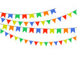 festive multicolored flags garlands of bunting vector image vector image