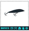fishing tackle icon flat vector image