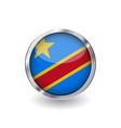 flag of democratic republic of the congo button vector image