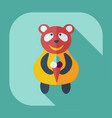 flat modern design with shadow icons panda eating vector image vector image