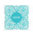 floral frame with copy space vector image vector image