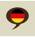 globe sphere flag germany country button graphic vector image vector image