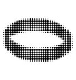 gold ring halftone dotted icon vector image vector image