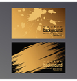 gold vcard vector image vector image