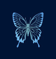 gradient butterfly on blue background butterfly vector image vector image