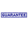 grunge blue guarantee word square rubber seal vector image vector image