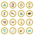 happy columbus day icon circle vector image vector image