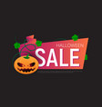 happy halloween sale banner or sticker design vector image