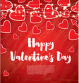 Happy Valentines Day Greeting Card vector image vector image