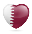Heart icon of Qatar vector image vector image
