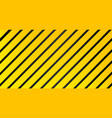 industrial striped warning yellow black pattern vector image vector image