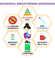 Info Breastfeeding vector image