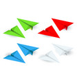 isometric paper planes icon set in simple flat vector image vector image