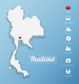 Kingdom of Thailand map vector image vector image