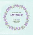lavender elegant wreath vector image vector image