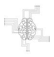 lineal brain design vector image