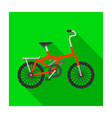 little orange children s bicycle bicycles for vector image