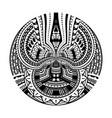 maori polynesian ethnic circle tattoo shape vector image vector image