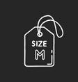medium size label chalk white icon on black