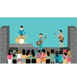 music concert performance flat fun playing vector image vector image