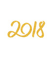 new year 2018 greeting card with calligraphy vector image vector image
