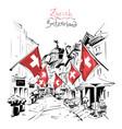 old town zurich switzerland vector image