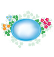 oval frame with flora vector image vector image